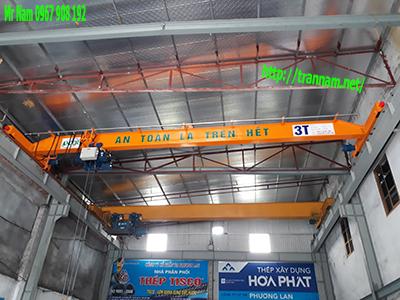 Cầu trục dầm đơn 3 tấn tại Hà Nam