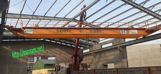 Lắp cầu trục dầm đôi 5 tấn