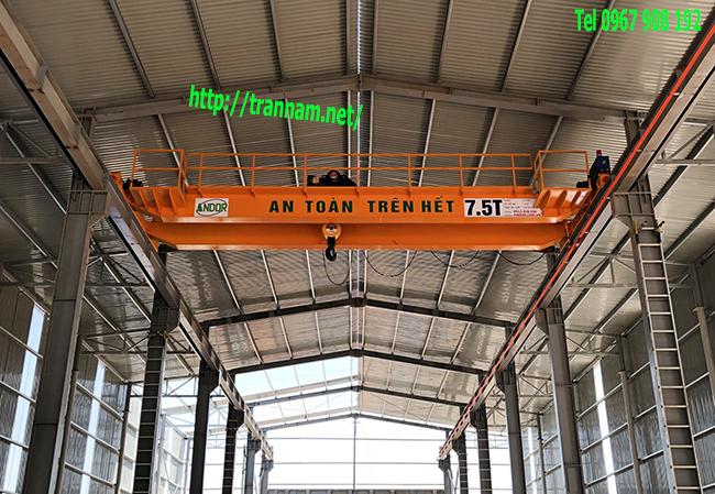 Cầu trục dầm đôi 7.5 tấn chất lượng