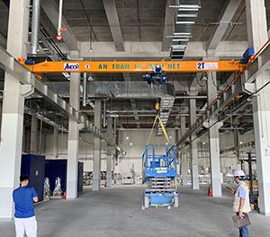 Lắp đặt cầu trục dầm đơn 2 tấn