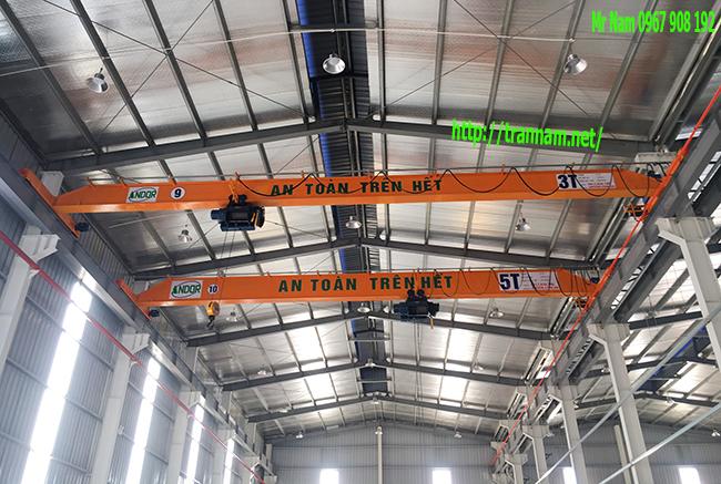 Lắp cầu trục 3 tấn và 5 tấn tại Hưng Yên