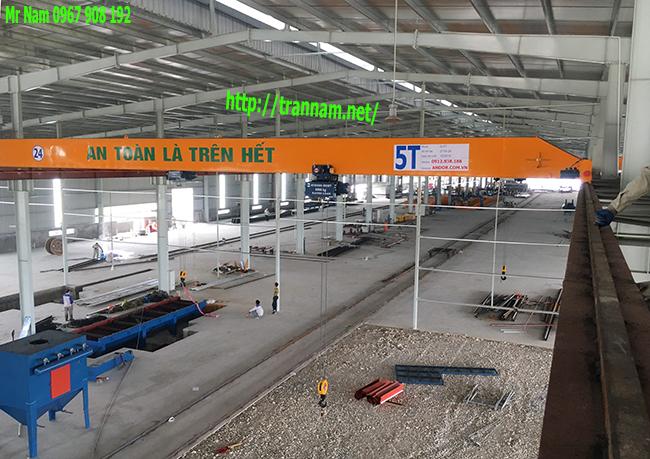 Cầu trục 5 tấn dầm đơn tại Thái Bình