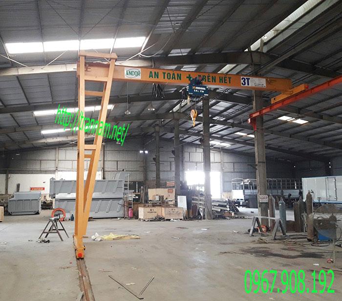 Bán cổng trục dầm đơn 3 tấn