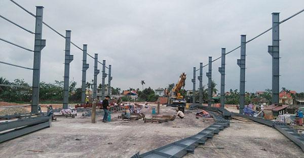 Cột và vai cột cho cầu trục dầm đôi 10 tấn