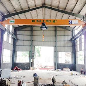 Chế tạo cầu trục dầm đơn 5 tấn – tại Tuyên Quang