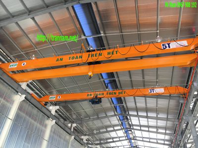 Cầu trục 5 tấn dầm đôi tại Bắc Ninh.