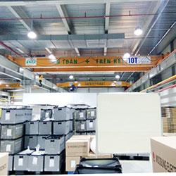 Cầu trục dầm đôi 10 tấn – Bắc Giang