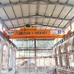 Lắp đặt cầu trục dầm đôi tại Nghệ An.