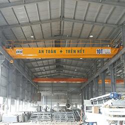 Cầu trục dầm đôi 10 tấn tại Hà Nam