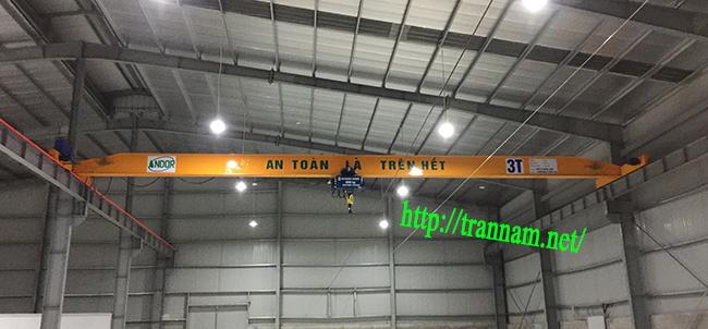 Cầu trục dầm đơn 3 tấn tại Bắc Giang
