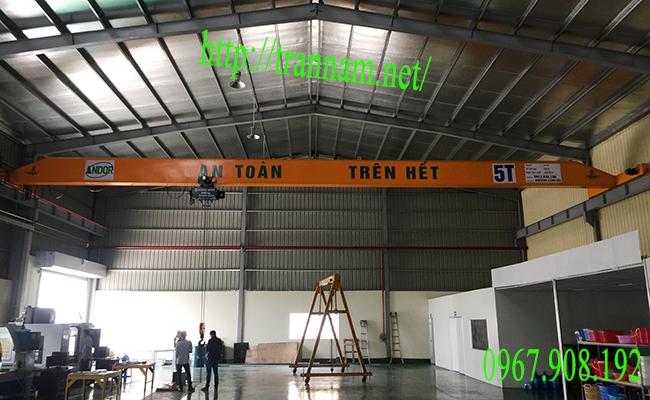 Cầu trục dầm đơn 5 tấn tại Bắc Ninh
