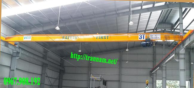 Chế tạo cầu trục đơn 3 tấn trong nhà xưởng