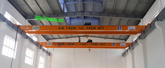 Cầu trục 5 tấn tại Cẩm Thủy - Thanh Hóa