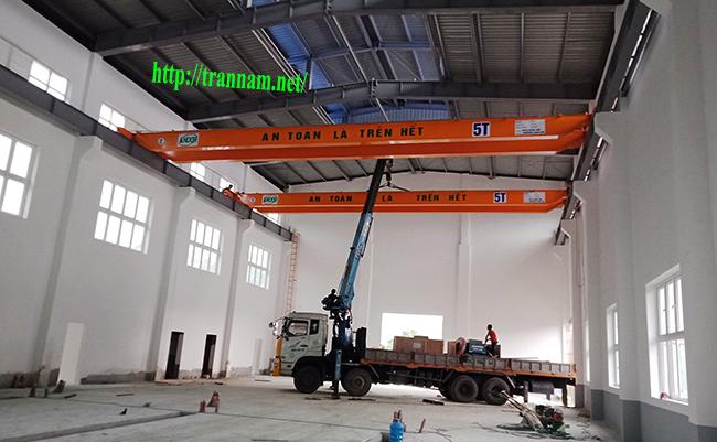 Lắp đặt cầu trục đôi 5 tấn tại Thanh Hóa