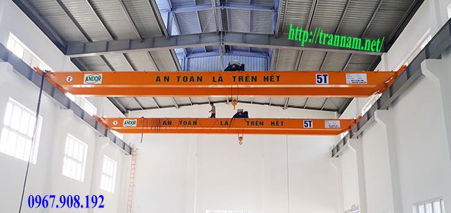 Lắp cầu trục 5 tấn tại Hải Phòng và Hải Dương