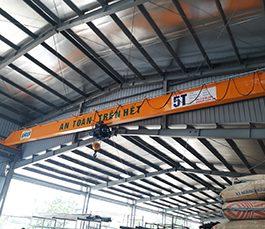 Cầu trục dầm đơn 5 tấn tại Sơn Dương – Tuyên Quang