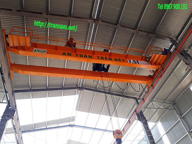 Cung cấp cầu trục dầm đôi 7.5 tấn tại Thanh Hóa