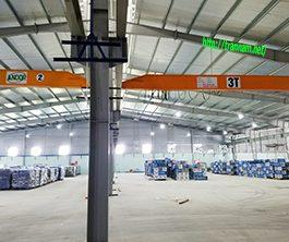 02 bộ cầu trục dầm đơn 3 tấn tại Nga Sơn – Thanh Hóa