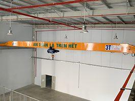 Cầu trục dầm đơn 3 tấn x 20m tại Quế Võ – Bắc Ninh
