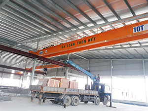 Cầu trục dầm đôi 10 tấn tại Thái Nguyên