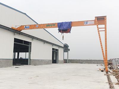 Bán cổng trục 7.5 tấn dầm đơn