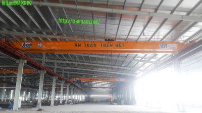 Cầu trục dầm đôi 10 tấn tại Thái Bình