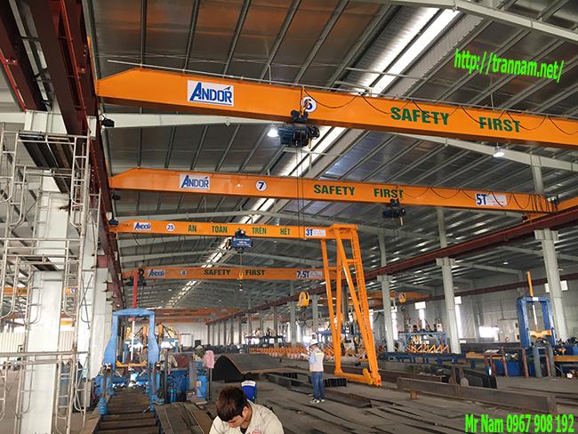 Lắp cầu trục cho công ty Hàn Quốc đầu tư tại Việt Nam