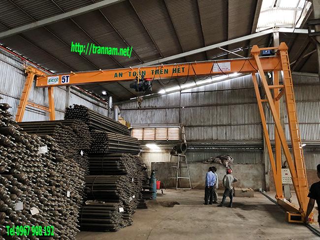 Lắp công trục dầm đơn 5 tấn chất lượng