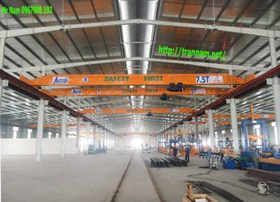 Chế tạo cầu trục đơn 7.5 tấn trong nhà máy