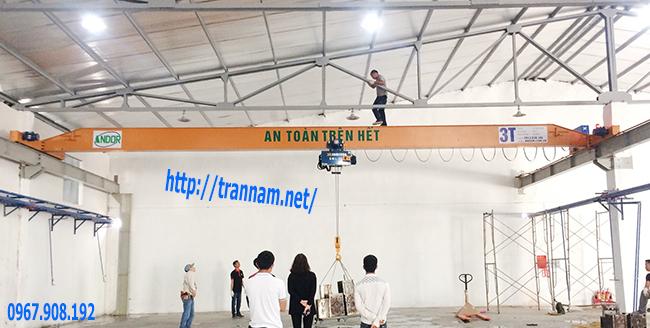 Chế tạo cầu trục 3 tấn tại Bắc Giang