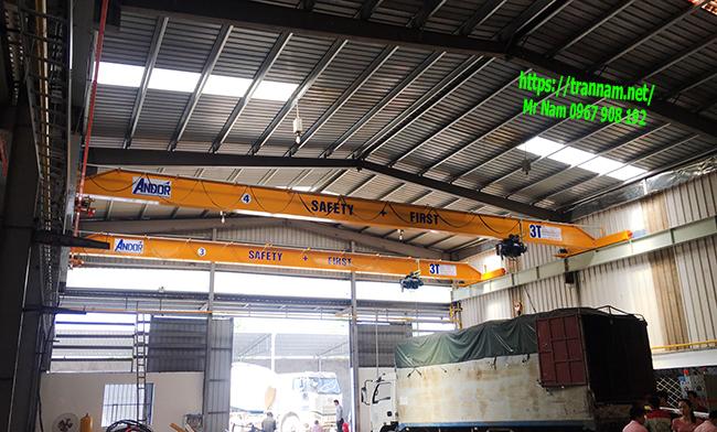 Cầu trục 3 tấn dầm đơn tại Hưng Yên