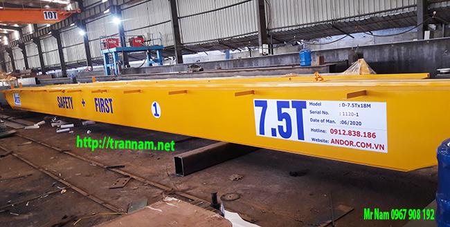 Kết cấu dầm chính của cầu trục 7.5 tấn