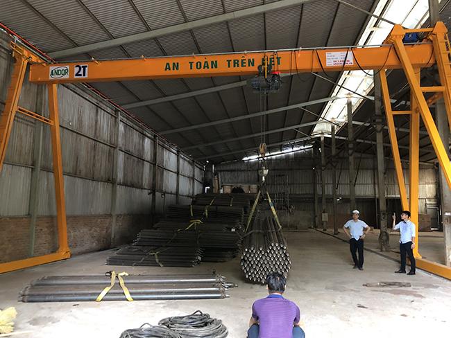 Cổng trục dầm đơn 2 tấn chất lượng