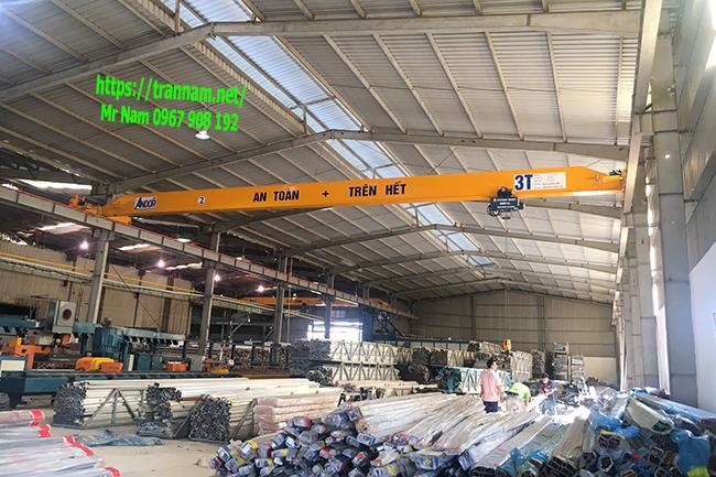 Cung cấp cầu trục 3 tấn dầm đơn tại Hưng Yên