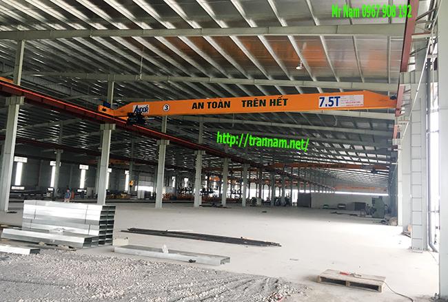 Chế tạo và lắp đặt cầu trục 7,5 tấn dầm đơn chất lượng