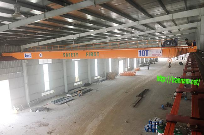 Lắp đặt trọn bộ cầu trục đôi 10 tấn tại Hà Nam