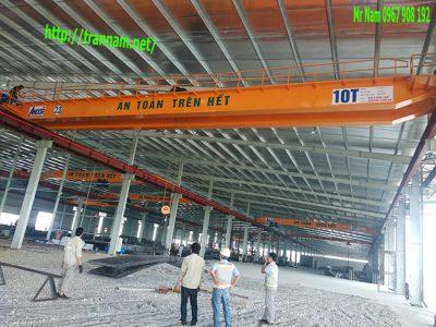 Lắp cầu trục 10 tấn tại KCN Đình Trám - Bắc Giang