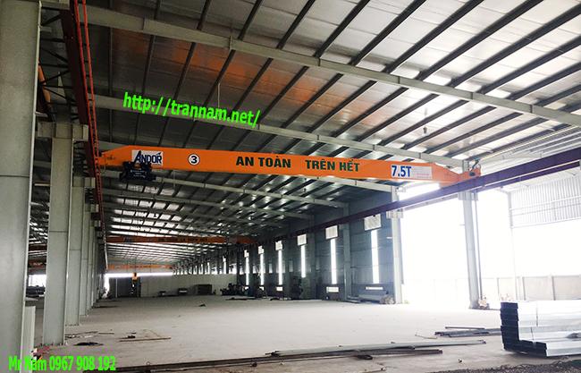 Lắp đặt cầu trục 7,5 tấn trong nhà xưởng tại Hà Nam