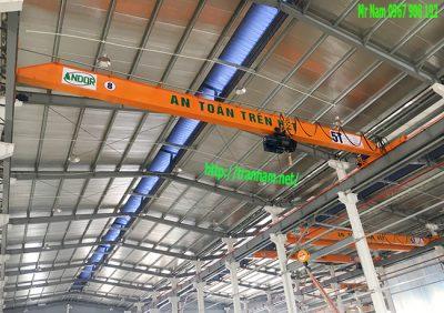 Lắp đặt cầu trục 5 tấn dầm đơn tại Vĩnh Phúc