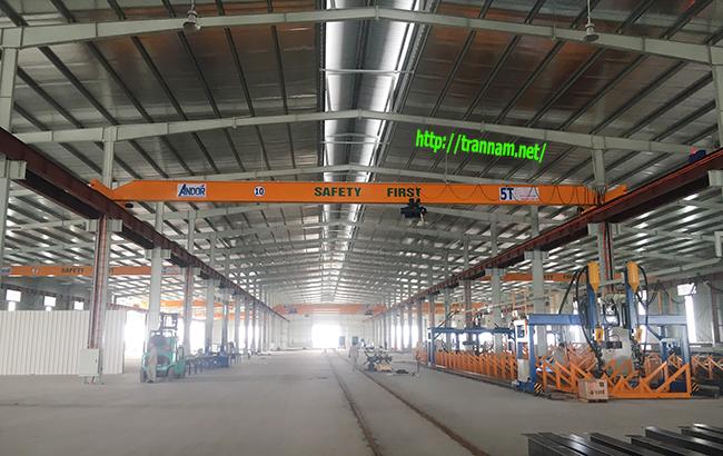 Cầu trục dầm treo 5 tấn tại Thái Bình