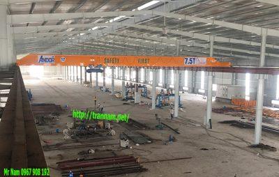 Cầu trục dầm đơn 7.5 tấn uy tín tại Hà Nam