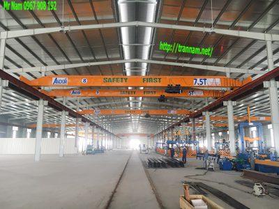 Cầu trục dầm đơn 7.5 tấn tại Hà Nam
