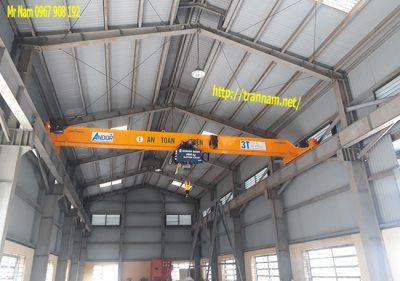 Gia công chế tạo cầu trục dầm đơn 3 tấn, 5 tấn tại Thanh Hóa