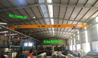 Lắp đặt cầu trục 3 tấn tại Nghệ An