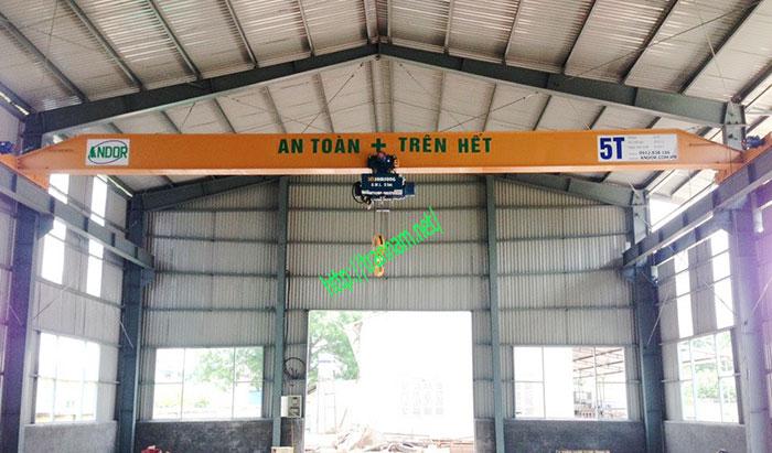 Cầu trục dầm đơn 5 tấn tại Tuyên Quang
