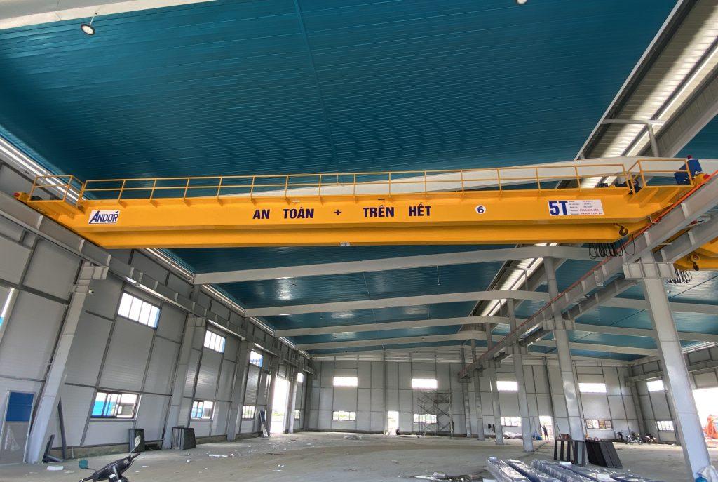 Lắp đặt cầu trục dầm đôi 5 tấn
