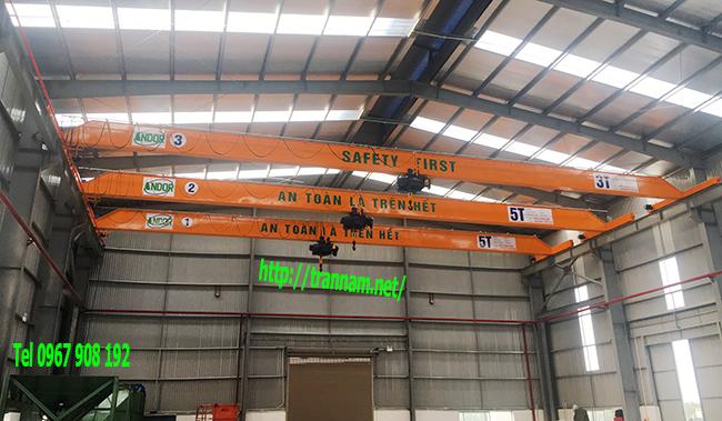 Lắp cầu trục dầm đơn tại Quảng Ninh