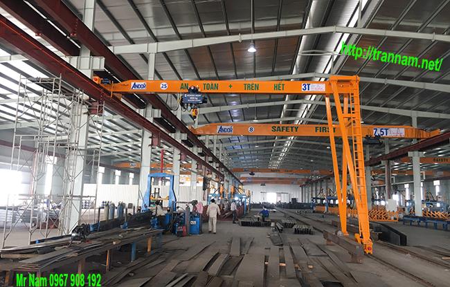 Lắp đặt bán cổng trục 3 tấn trong nhà máy