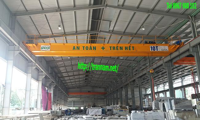 Lắp đặt cầu trục đôi 10 tấn tại Bắc Giang