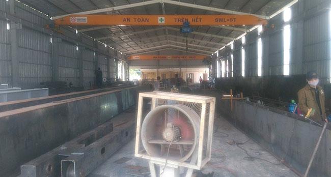 Nhà xưởng chế tạo cầu trục